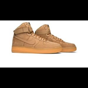 Wheat NIKE Air Force 1s BOYS SIZE